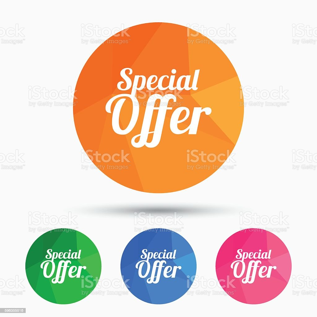 Special offer sign icon. Sale symbol. royalty-free special offer sign icon sale symbol stock vector art & more images of badge