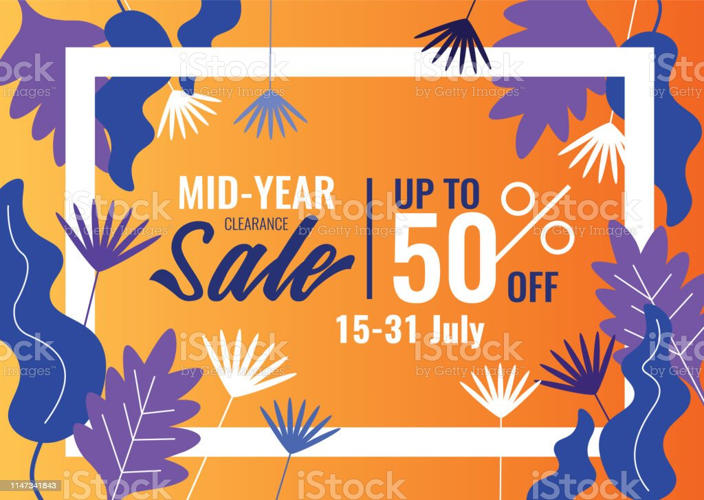02eaab508dd1a Special Offers And Promotion Banner Mid Year Sale Summer Sale Stock ...