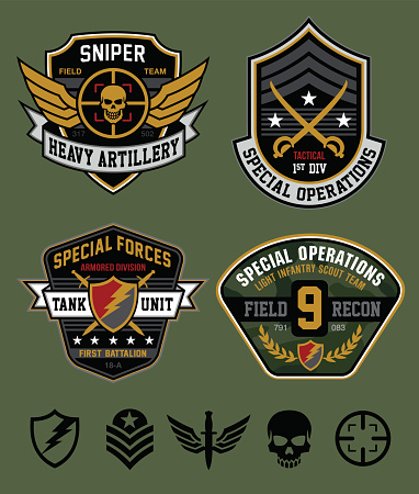 Special ops military patch set