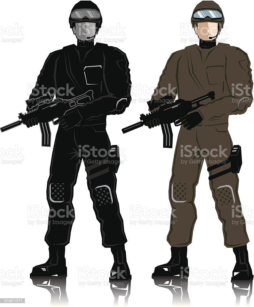 Special Police vector art illustration