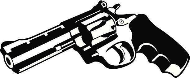 .38 Special revolver vector art illustration