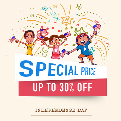 Special Sale on occasion of American Independence Day celebration.