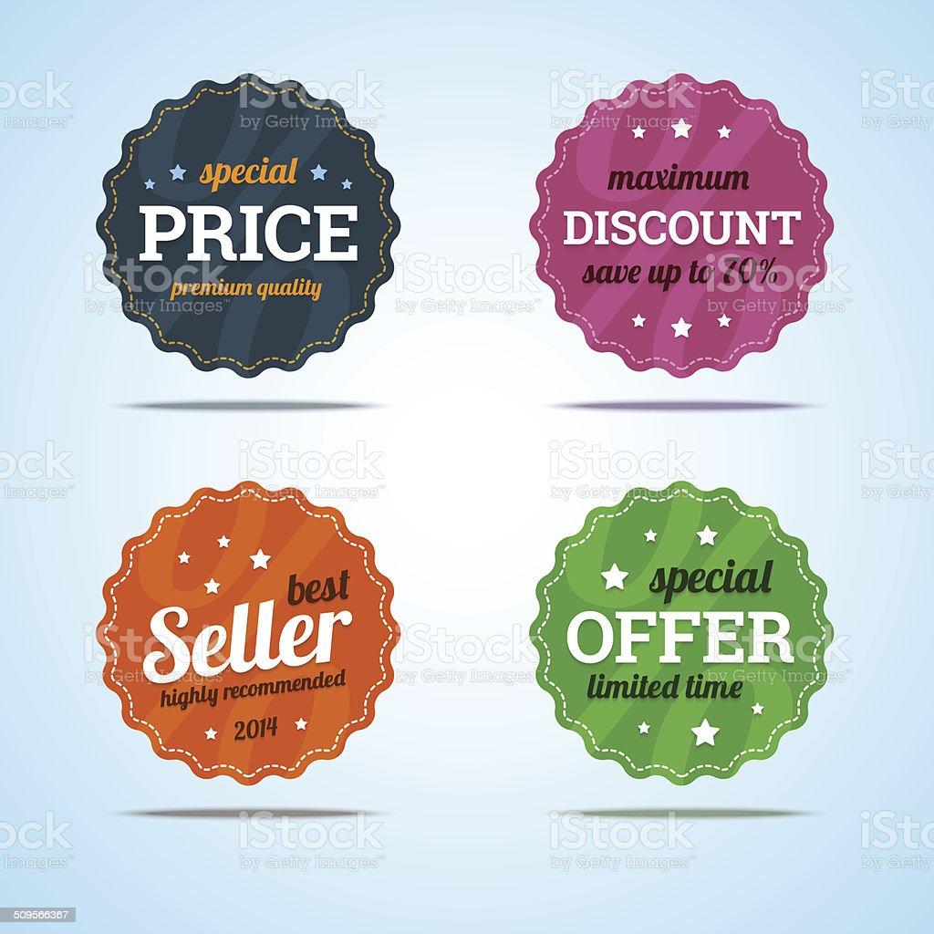 Special Set Of Premium Sale Badges Stock Vector Art & More