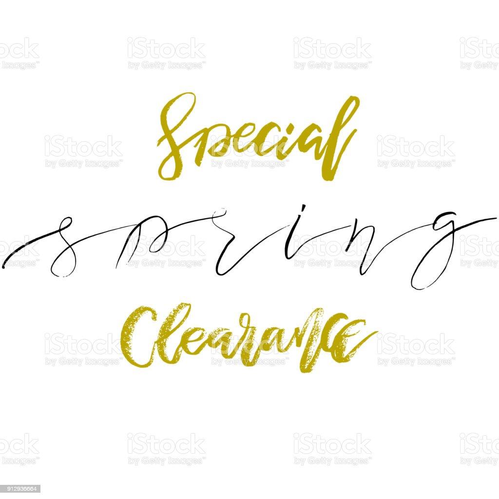Special Frühjahr Clearance Hand Gezeichnete Inspiration Zitat ...