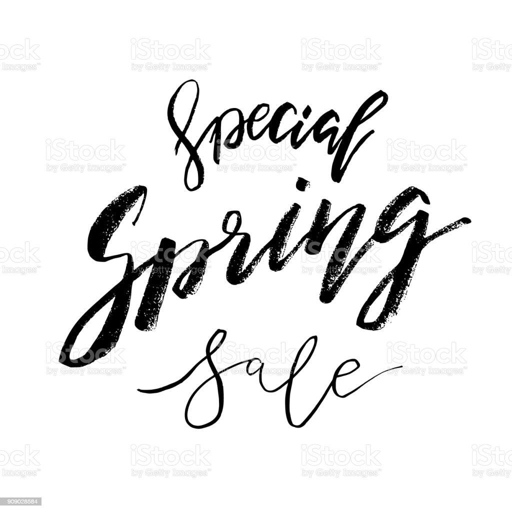 Spring Special Sale Hand Gezeichnete Inspiration Zitat ...