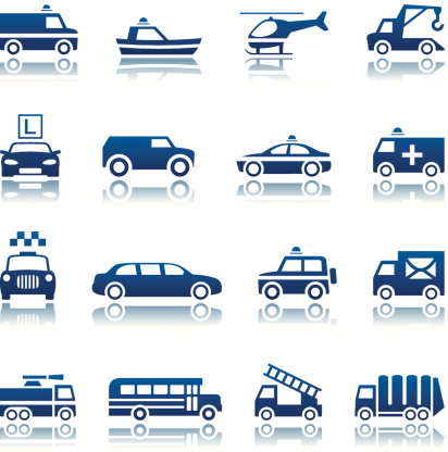 Special transportation icon set