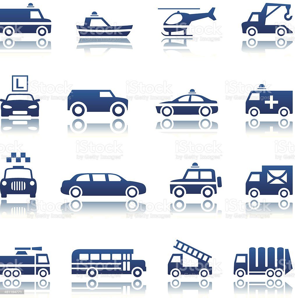Special transportation icon set vector art illustration