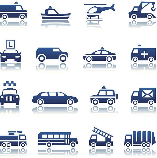 Special transportation icon set vector art illustration