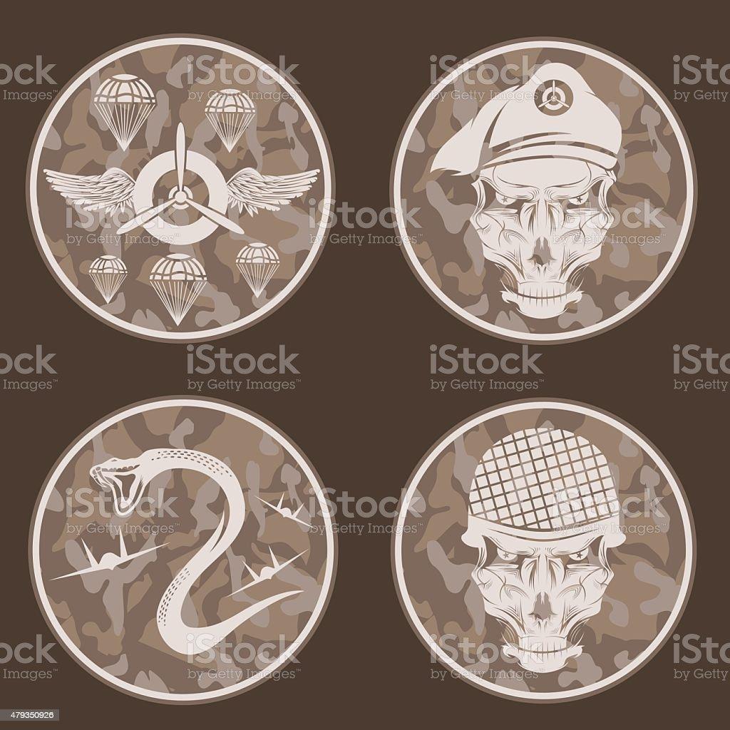 Besondere Einheit Militäremblem Set Vektordesignvorlage Stock Vektor ...