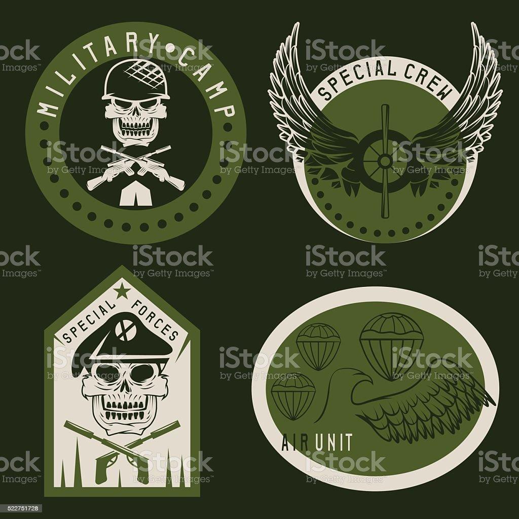 Besondere Einheit Militäremblem Set Vektordesignvorlage Vektor ...
