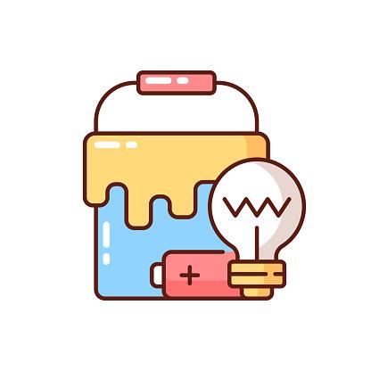 Special waste RGB color icon
