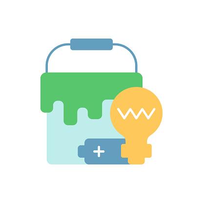 Special waste vector flat color icon