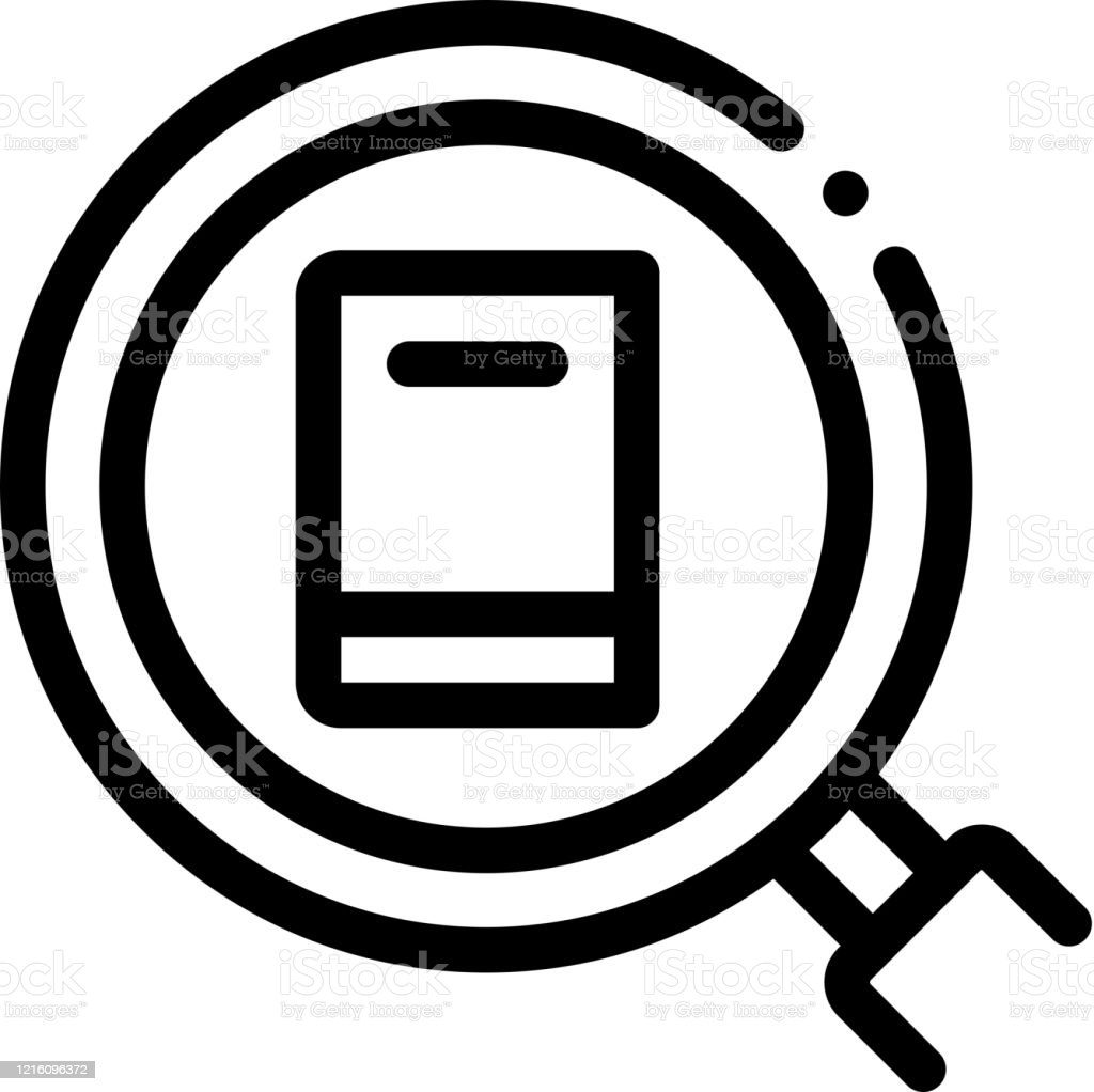 Specific Book Target Icon Vector Outline Illustration Stock