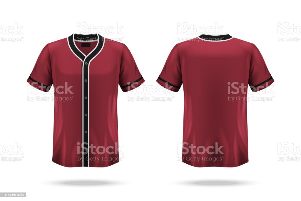 Specification Baseball Jersey T Shirt Mockup Isolated On White