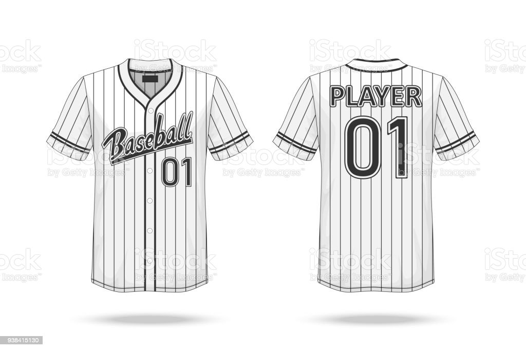 1e3eddec5 Specification Baseball T Shirt Mockup isolated on white background , A  sample design elements or text number on the shirt , blank for printing ,  vector ...