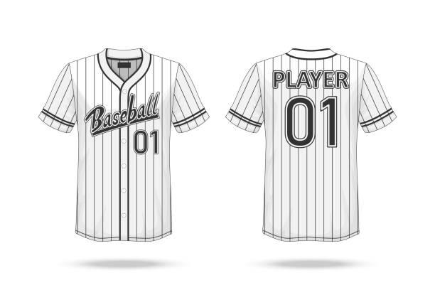 Royalty Free Baseball Jersey Back Clip Art, Vector Images
