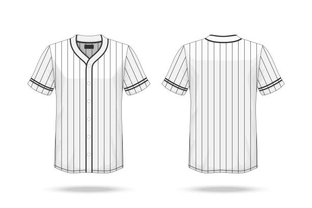 Specification Baseball T Shirt Mockup  isolated on white background , Blank space on the shirt for the design and placing elements or text on the shirt , blank for printing , vector illustration vector art illustration