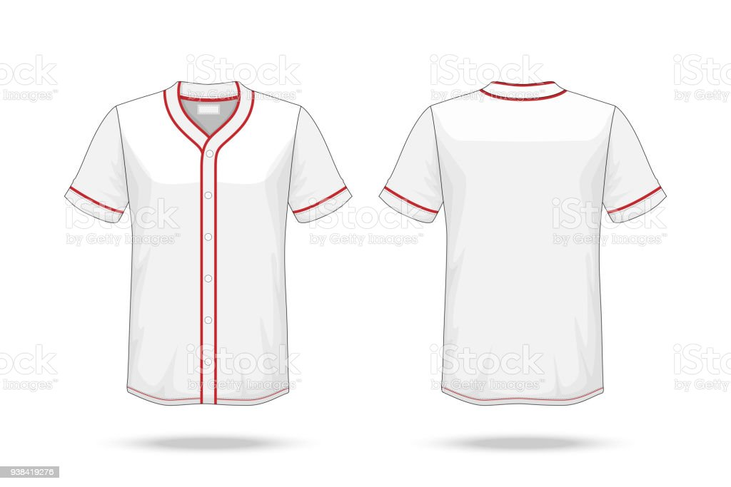 Specification Baseball T Shirt White Red Mockup Isolated On White ...