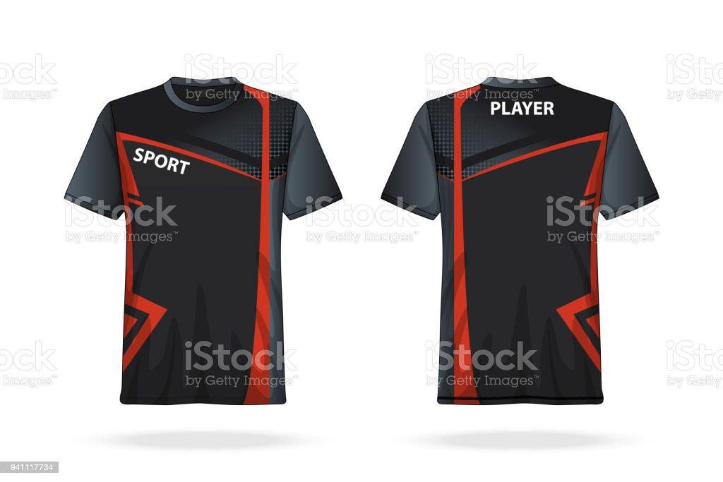 Especificación Fútbol Camiseta Redonda Plantilla De Jersey De Cuello ...