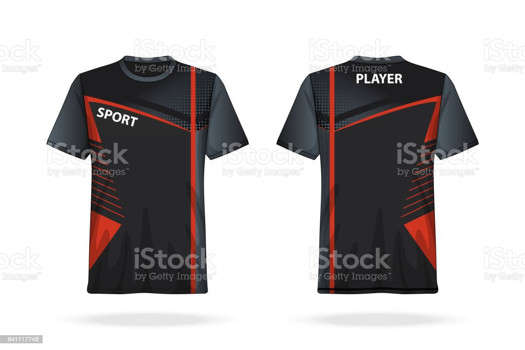 Specification Soccer T Shirt round neck Jersey template. mock up football  uniform . Vector Illustration design - Illustration . 981cc0dbc