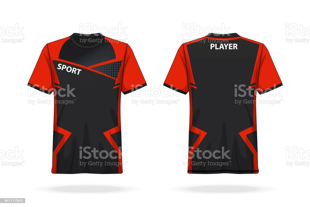 specification soccer t shirt round neck jersey template mock up