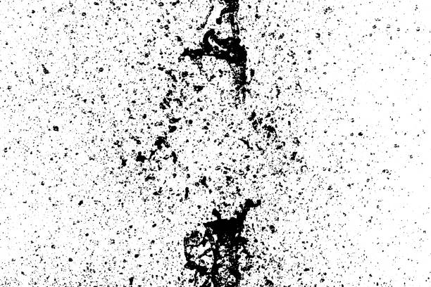 Speckle black vector texture overlay. Grit or grain and blots isolated on white background. Flecked backdrop. Speckle grain texture overlay. Vector background airbrush stock illustrations