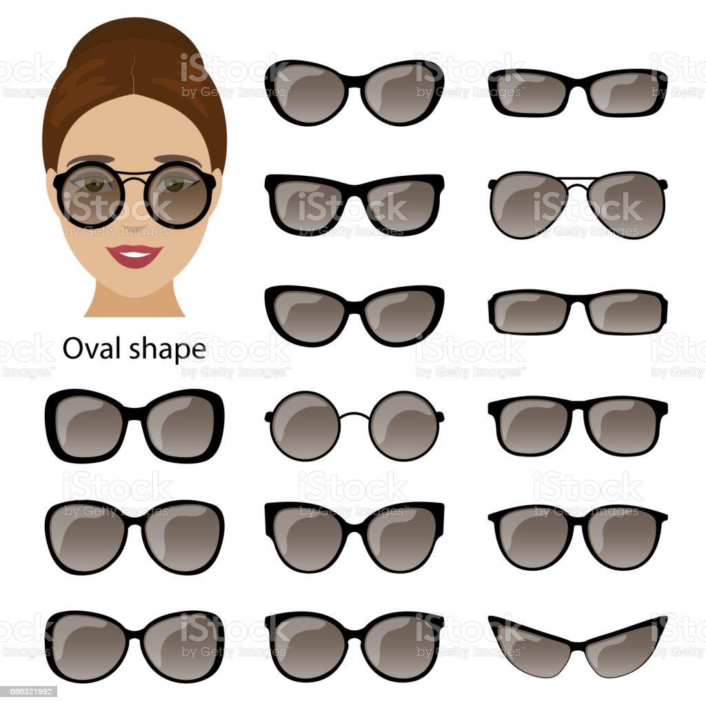 d1589ec15b Hastes de óculos e rosto oval vetores de hastes de óculos e rosto oval e  mais