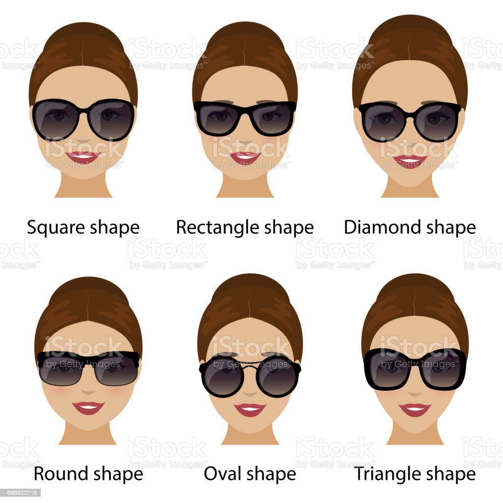 dfb8e9c5353 Spectacle frames and women face shapes royalty-free spectacle frames and women  face shapes stock