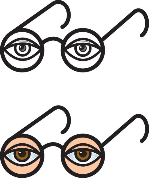 7fd7de0253d Spectacles eye vector illustration vector art illustration