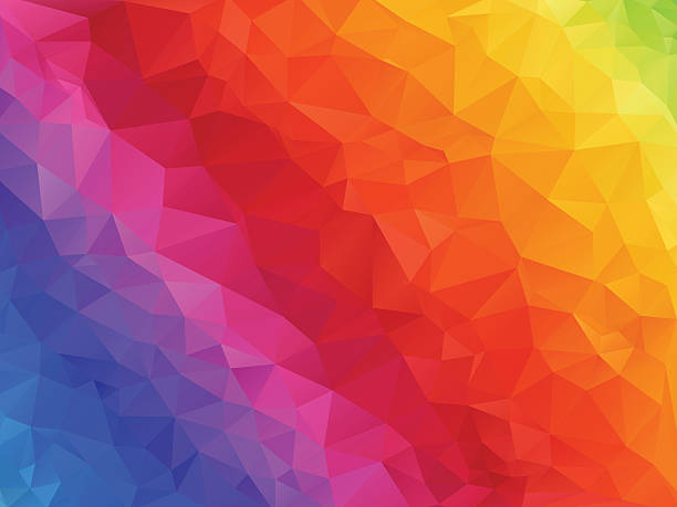 spectrum rainbow background - mosaikglas stock-grafiken, -clipart, -cartoons und -symbole