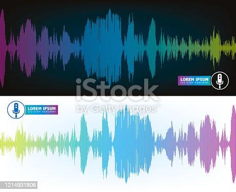 istock Spectrum Wave Sounds Voice Recognition 1214931806