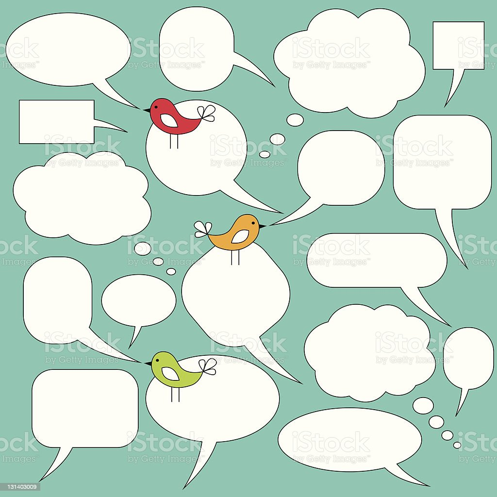 Speech and thought balloons royalty-free speech and thought balloons stock vector art & more images of bird