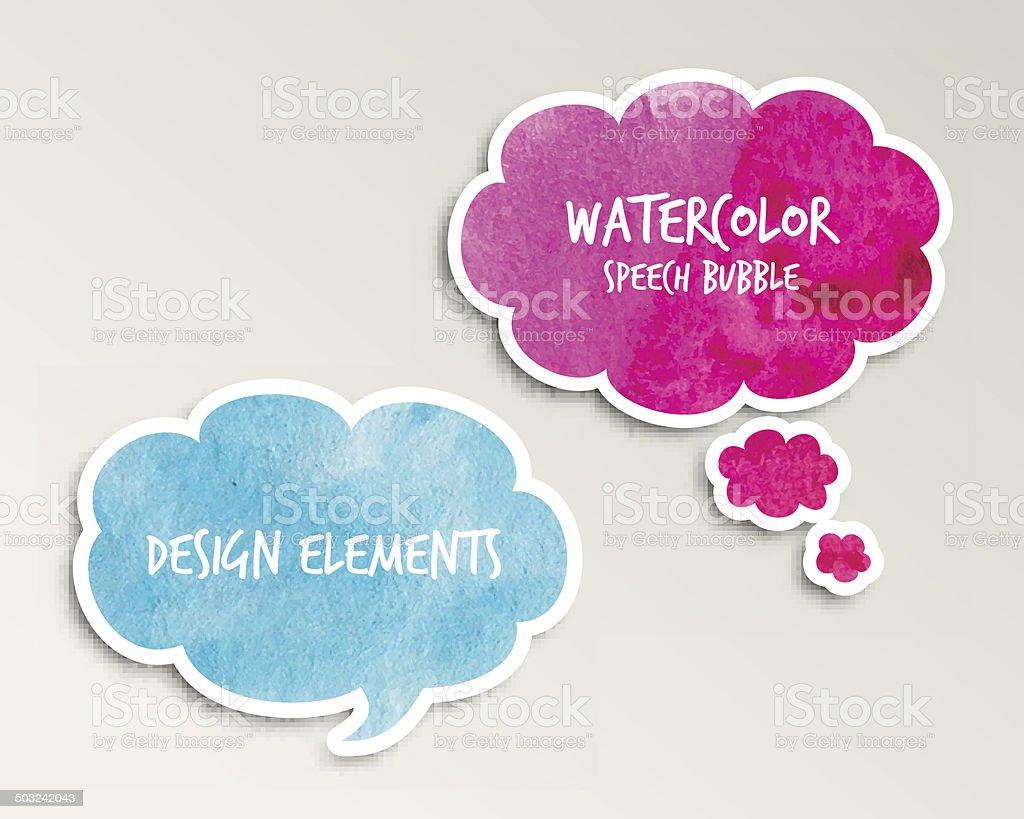 Speech balloon for banner, shop, flyer, price tag design. vector art illustration