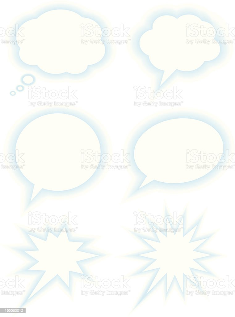 Speech Balloons royalty-free stock vector art
