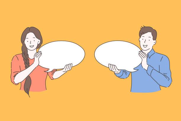 sprechblase, werbung, kommunikationskonzept - feedback stock-grafiken, -clipart, -cartoons und -symbole