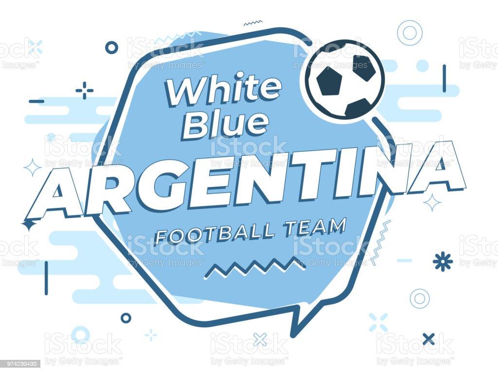 Bocadillo de diálogo ARGENTINA fútbol de icono, balón de fútbol. Ilustración de vector. - ilustración de arte vectorial