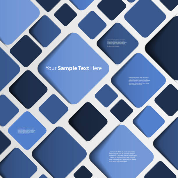 Speech Bubble Background Blue 3D Tiled Speech Bubble Mosaic Background Vector Design mosaic stock illustrations