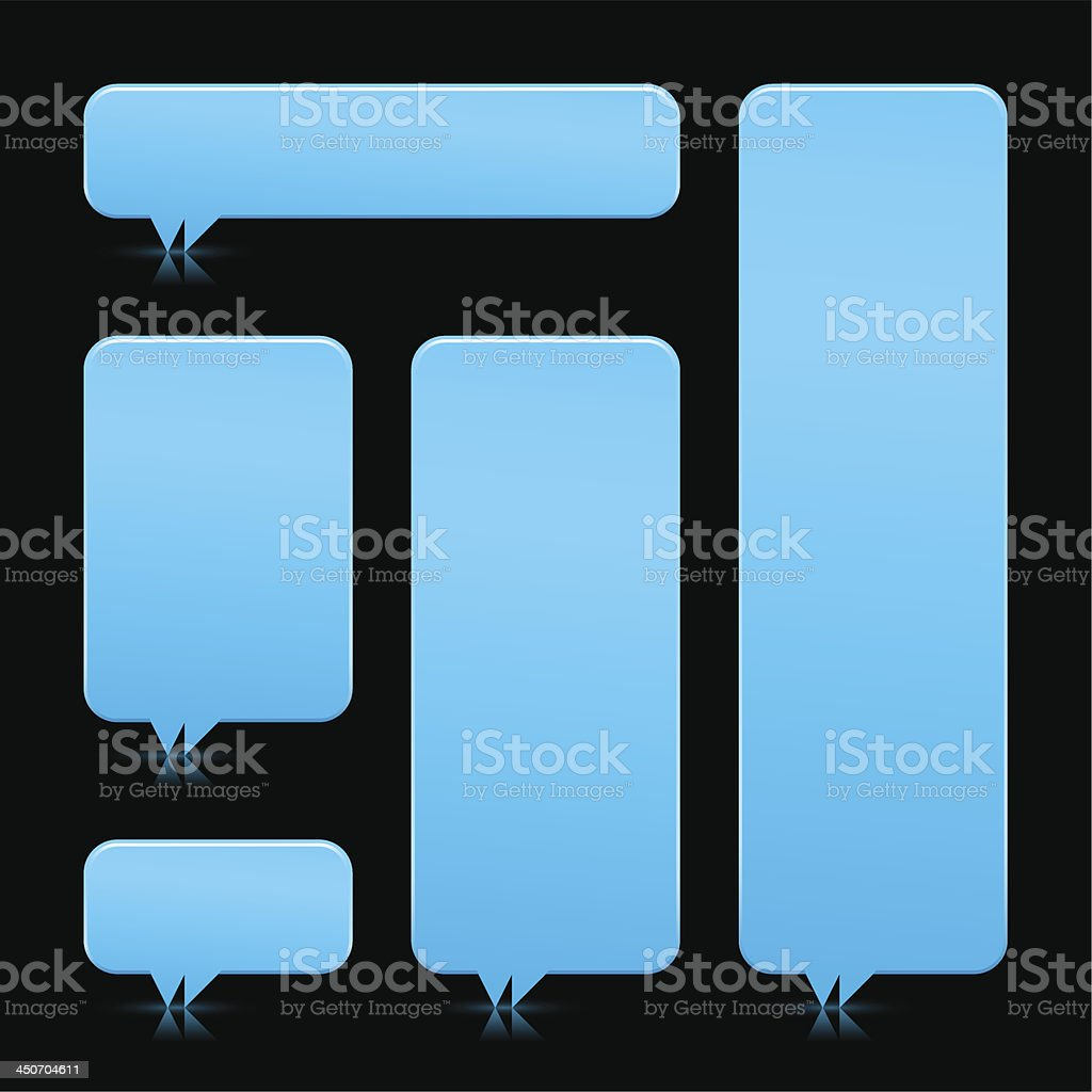 Speech bubble blank icon rounded rectangle empty button vector art illustration