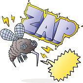 speech bubble cartoon fly zapped