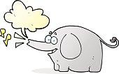 speech bubble cartoon trumpeting elephant