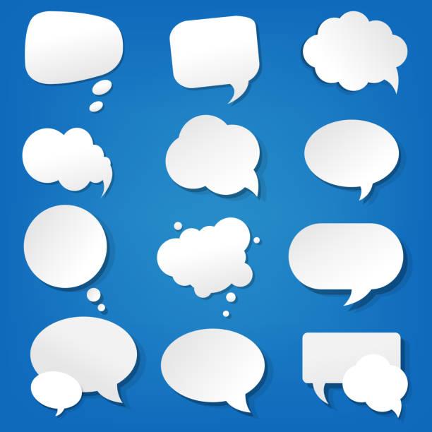 Discurso de bolha Collection - ilustração de arte em vetor