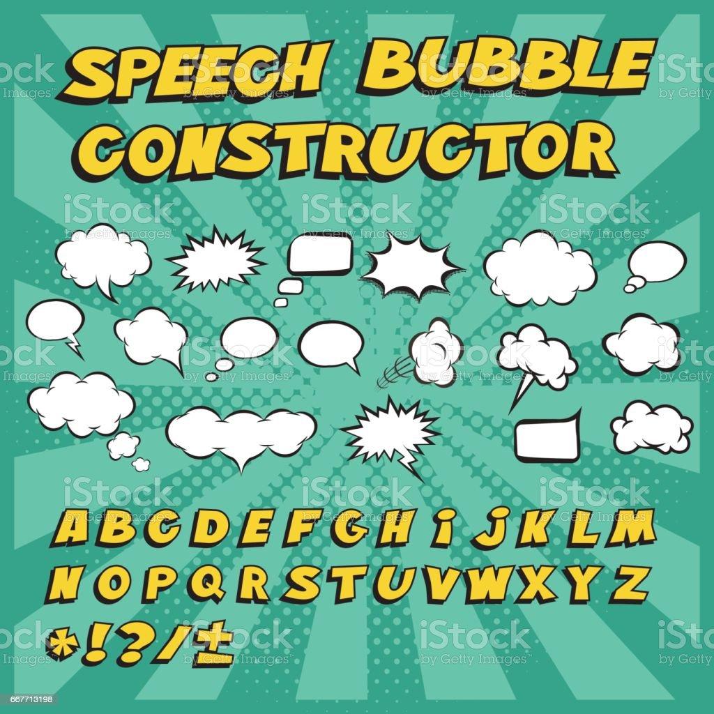 Constructeur de discours de bulle. Faites votre propre bulle! - Illustration vectorielle