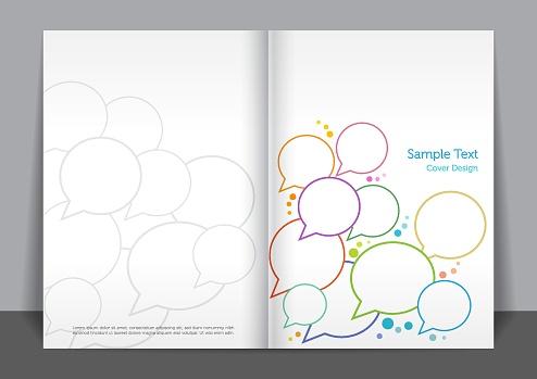 Speech Bubble Cover design
