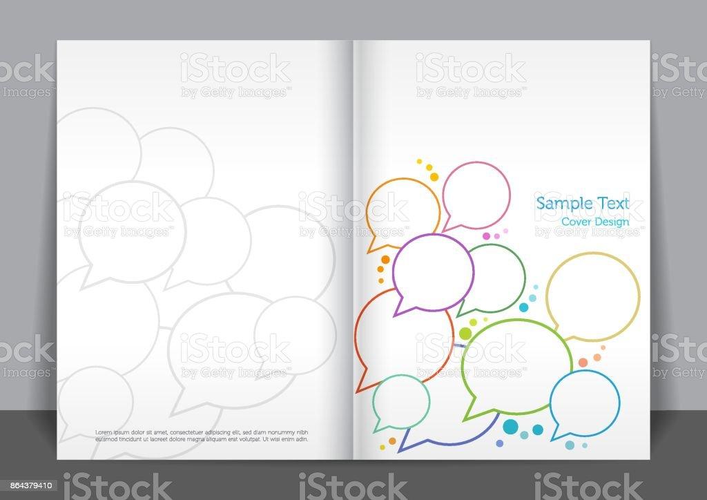 Speech Bubble decken design – Vektorgrafik