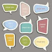 Speech bubble cut paper design template vector.