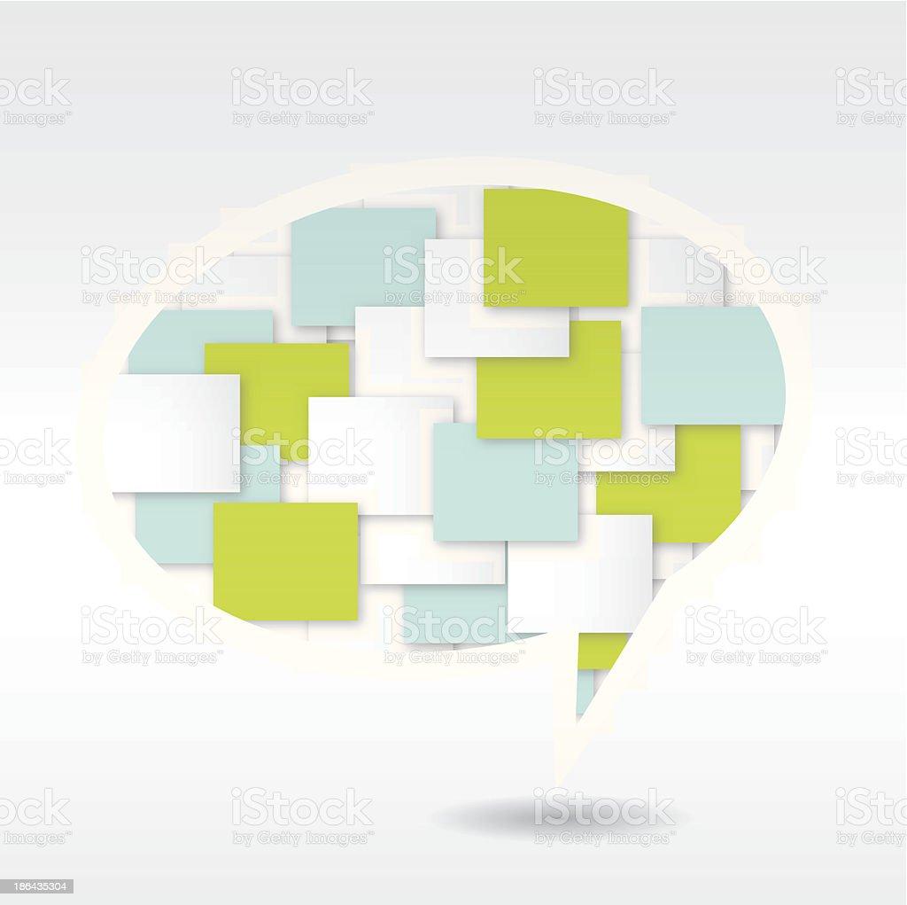 Speech bubble design. royalty-free stock vector art