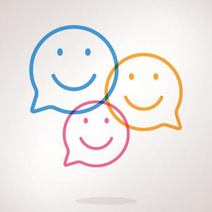 Speech bubble emojis clipart