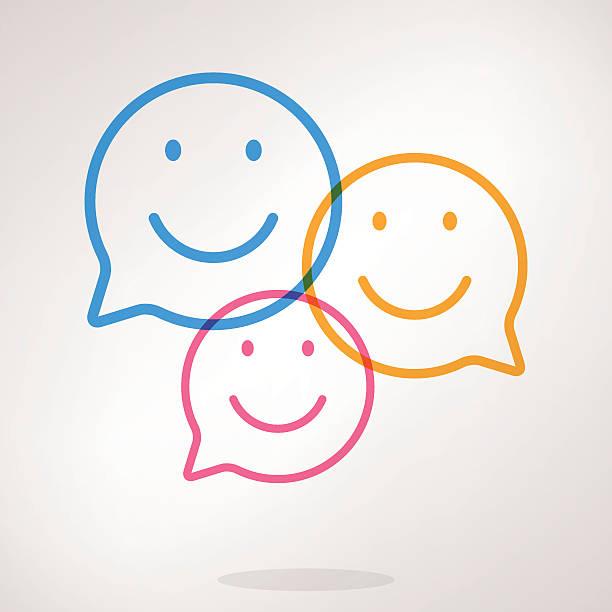 音声バブル emojis - 笑顔点のイラスト素材/クリップアート素材/マンガ素材/アイコン素材