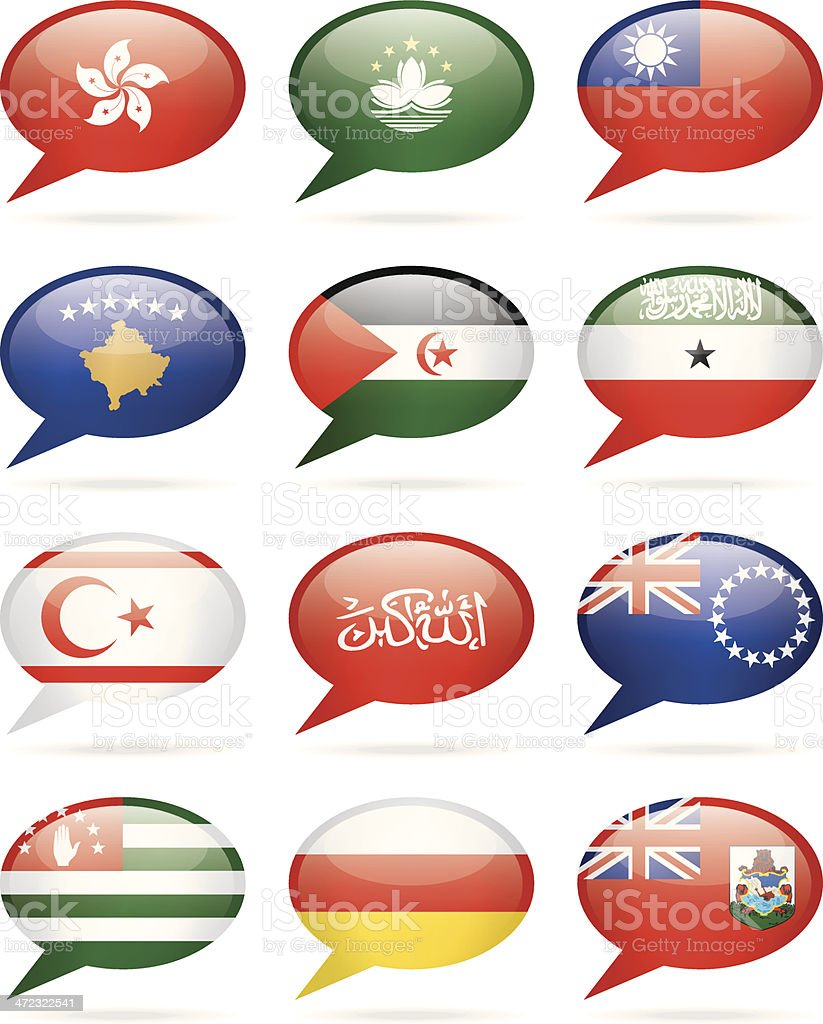 Speech Bubble Flags - additional collection royalty-free stock vector art