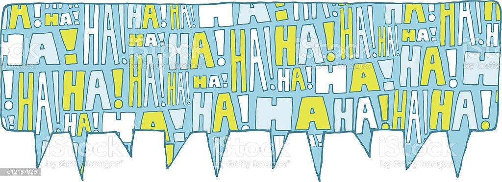 Speech bubble group laughter vector art illustration